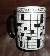 Crossword Puzzle Mug - Get a New Puzzle Online Each Month! Cruciverbalist Gift