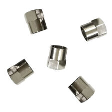 5x Auto Copper Chrome Tyre Tire Dust Caps Wheel Air Valve Stem Screw Cover Lid