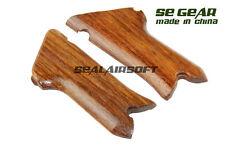 Se gear Airsoft chêne bois Pistol Grip Cover pour LUGER P08 GBB SE-WD0003