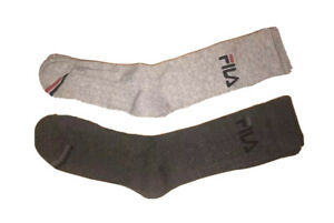 Fila Absorbdry Crew Socks Full Logo 2 Pair Set Athletic