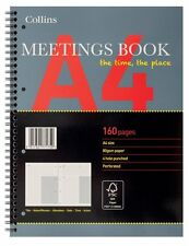 Collins Meetings Book A4 Wiro Notebook Spiral Bound 80gsm 160 pages