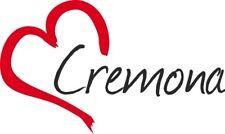 """Adesivo per auto """" CREMONA """" (Città) cuore Sticker ca.9x15 cm taglio contorno"""