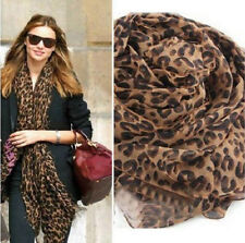 2017 Fashion Noble Women's Leopard Long Soft Wrap Lady Shawl Silk Chiffon Scarf