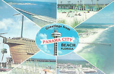 Greetings From  Panama City Beach   FL   6 Thumbnail Pictures on Card  Postcard