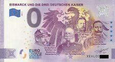 0 Euro Schein - BISMARCK UND DIE DREI DEUTSCHEN KAISER 2020-2 XEAL