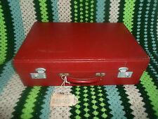 Vintage Red Sirram Picnic Hamper EMPTY With Keys ~ VW Friendly ~ Prop ~ Display
