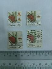 4 Malaysia 20 cent / 20 sen Stamp Elaesis Guineensis Art