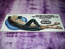 1979 Promo Poster WPLJ 95.5 NY Rod Stewart OLIVIA RARE
