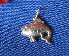 Bettelarmband Anhänger aus 835 Silber Fisch Charms Fischanhänger / Art. Y 759