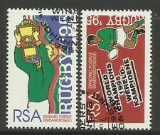 SOUTH AFRICA 1995 RUGBY WORLD CUP VICTORY Set of 2v Fine Used