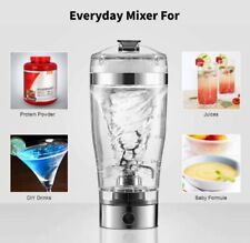 Portable Vortex Mixer USB Charged Blender Protein Shaker Cup/ Bottle Stainless