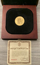 22 Carat Gold 1976 Canada Olympic 100$ 1/2 Troy oz  Commemorative Coin with COA
