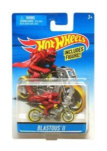 Hot Wheels Moto Jaune Blastous II Avec Figurine - Mattel - Motorcycle - Vehicule