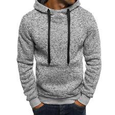 New Men's Outwear Sweater Winter Slim Hoodies Warm Hooded Sweatshirt Coat Jacket