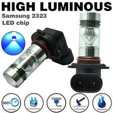 2x 9005 HB3 100W LED Samsung 2323 H10 Fog Driving Daytime Light Bulb 10000k Blue