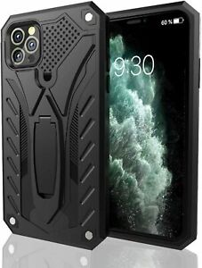 iPhone 11 Hülle Schutz Handyhülle Militärstandard mit Ständer Case Schwarz