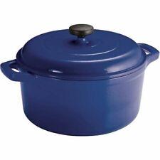 Tramontina Lodge 6.5 -Quart Enameled Cast Iron Dutch Oven, Blue Enameled