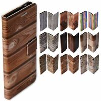 For Nokia Series - Wood Timber Print Pattern Wallet Mobile Phone Case Cover