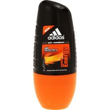 2 X adidas Anti-perspirant Deep Energy 48h Protection Deodorant Roll on 50ml