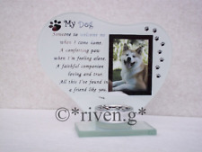 MY DOG PICTURE PET@CANINE FRIEND CANDLE Holder Keepsake PUP@Cherished COMPANION