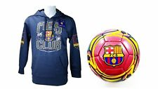 FC Barcelona Official Soccer Hoodie Jacket & Size 5 Ball Combo Adult 9 Small