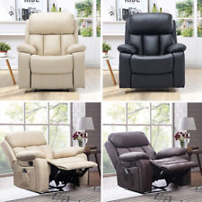 Comfy Recliner Armchair Sofa Manual/ Electric Massage Heated Chair Relax Bedroom