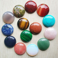 Fashion natural stone mixed round shape CABOCHON Beads 12pcs/lot wholesale 30mm