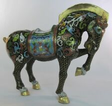 CLOISONNÉ ENAMEL CHINESE HORSE FIGURINE 7 ¼  INCHES TALL