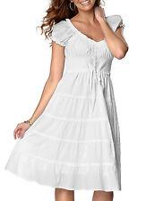 Cotton Summer/Beach Patternless Plus Size Dresses for Women