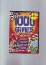 1000 GAMES COLLECTION - 1000 FULL GAMES - PC GAME - FAST POST - NEW & SEALED  LD