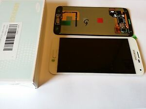 SAMSUNG G900F GALAXY S5 LCD TOUCH SCREEN DISPLAY COMPLETE ORIGINAL GENUINE WHITE