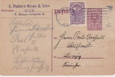Austria-1920 Uprated 25 h purple PS postcard Vienna cover to Dresden, Germany