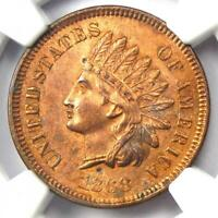 1868 Indian Cent 1C - NGC Uncirculated Details - Rare Early UNC MS Penny!