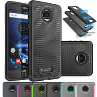 For Motorola Moto Z Force Droid Shockproof Hybrid Rugged Rubber Hard Case Cover