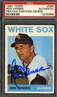Ron Hansen PSA DNA Coa Autograph 1964 Topps Hand Signed