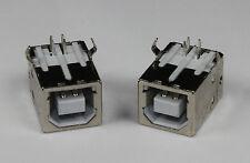 2X USB B Kupplung PCB Einbaubuchse Buchse 90 Grad Print Drucker Industrie 01