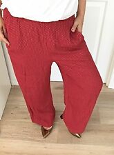 COUNTRY ROAD WOMANS PANTS POLKA DOT WIDE LEG MADE IN AU WORK PARTY SZ M