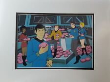 Star Trek Animation Cel with the Crew and Tribbles on the Enterprise Bridge