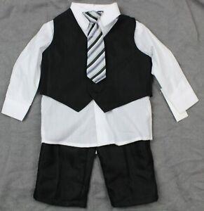 Platinum Boys 4 Piece Suit Set Black Size 12 Months