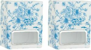 HomeWorx by Harry Slatkin Set of 2 Plug In Diffusers (Blue toile)
