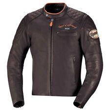 IXS eliott señores vintage chaqueta de cuero-marrón