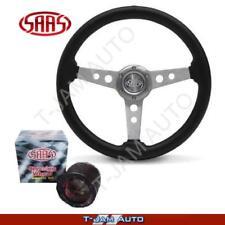 Genuine SAAS Holden Gemini Black Sports Steering Wheel 350mm & Boss Kit NEW!