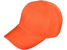 1 Dozen (12)  Orange Golf Baseball Hats Cap Caps Acrylic CHEAP!