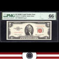 GEM 1953-B $2 LEGAL TENDER NOTE PMG 66 EPQ Fr 1511*   *03061657A
