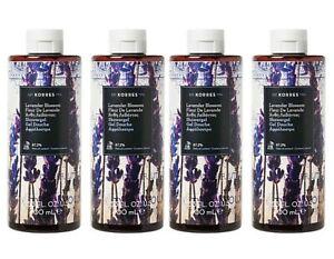 Lot 4x New Sealed KORRES Lavender Blossom Hydrating Shower Gel 13.5oz Floral