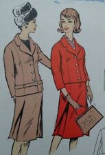 """Vintage 1950s Le-Roy Skirt Jacket Suit Sewing Pattern #3040 Bust 36"""" 91.5cms"""