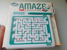 Thinkfun AMAZE Single Player Maze Game with 16 mazes, no batteries!, smoky odor