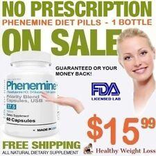 1 Phenemine Best Fast Weight Loss Suppress Appetite Suppressant Diet Pills 37.5
