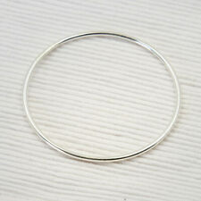 Armreif Silber 925 Armreif Bangle Reif rund glatt Handarbeit Bangles 67 mm ts