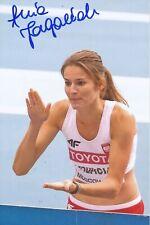 ??  Polen  Leichtathletik Foto original signiert 389250